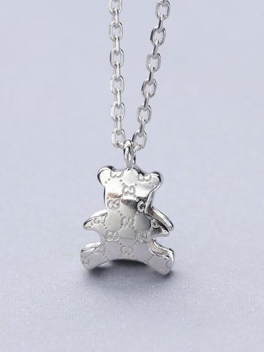 Cute Platinum Plated Bear Shaped Pendant