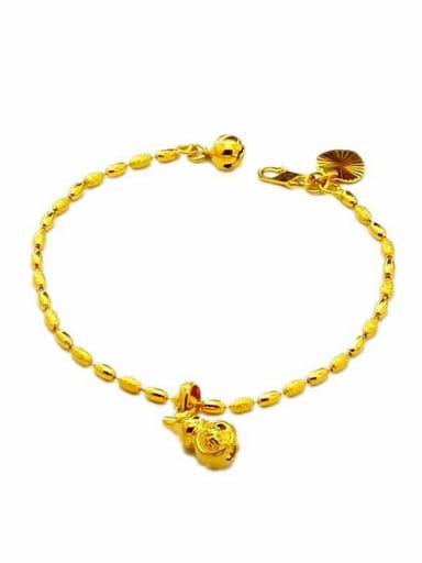 Trendy 24K Gold Plated Gourd Shaped Women Bracelet