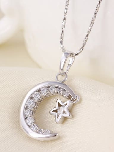 Fashion Moon Star Zircon Necklace