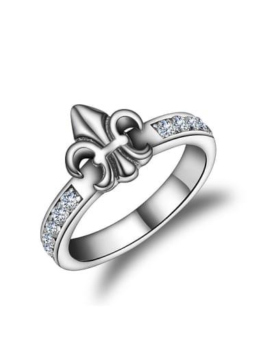 Retro style 925 Thai Silver Tiny Cubic Zirconias Ring