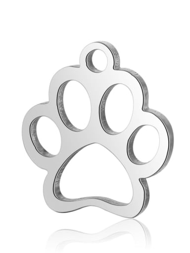 Stainless Steel With Cute Irregular Dog'paw Charms