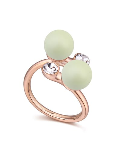Chanz using SWAROVSKI elements in Austria pearl ring edge jewelry with you
