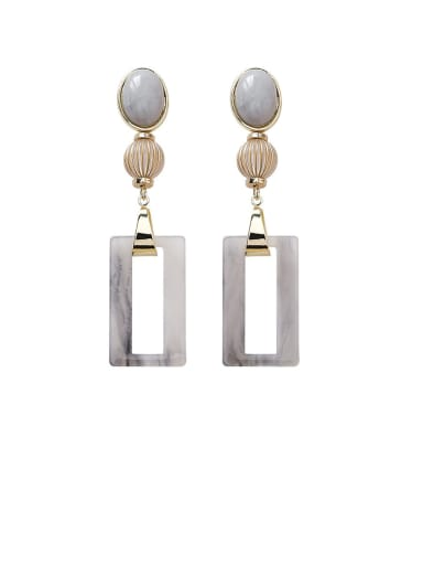 Alloy With Gold Plated Simplistic Hollow  Geometric Drop Earrings