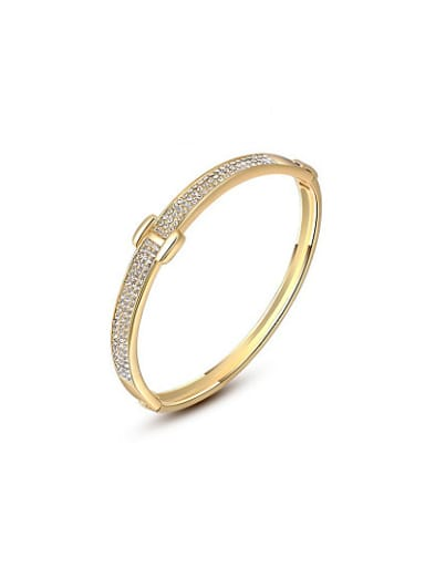 Exquisite 18K Gold Plated H Shaped Bangle