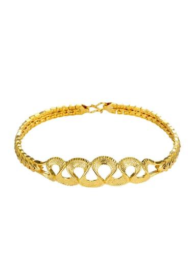 Copper Alloy 24K Gold Plated Classical Bracelet