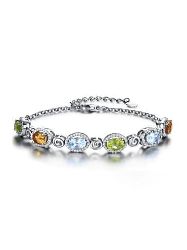 Fashion Multi-color Gemstones Bracelet