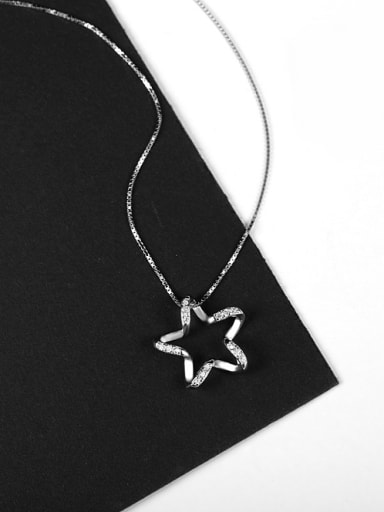 Fashion Five-pointed Star Silver Necklace