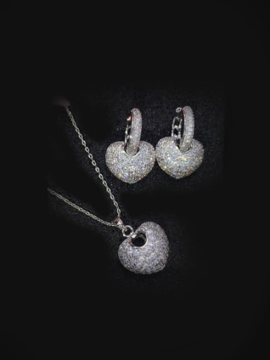 Micro Pave Shining Zircon Jewelry Set
