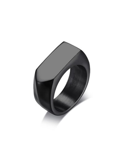 Personality Black Gun Plated Arrow Shaped Titanium Ring