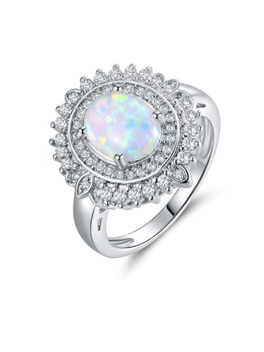 2018 Opal Stone Engagement Ring