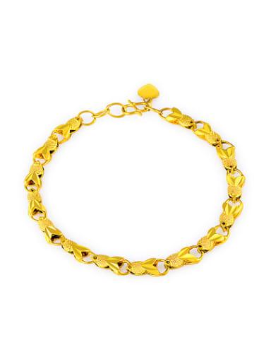 Elegant Fish Shaped 24K Gold Plated Copper Bracelet