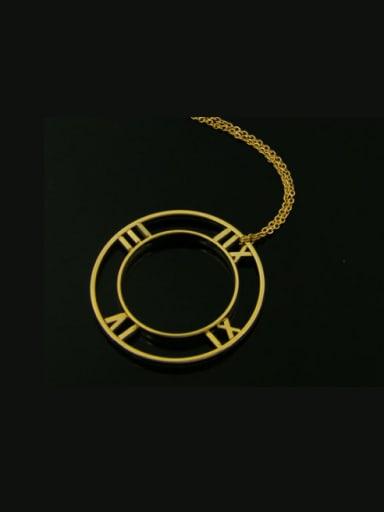 New Rome Shaped Fashion Titanium Necklace