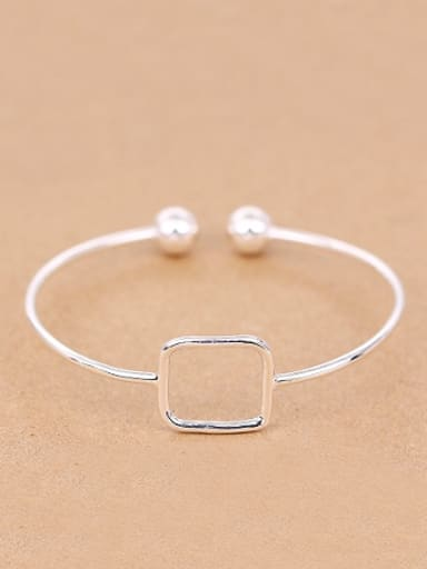 Simple Hollow Square Opening Bangle