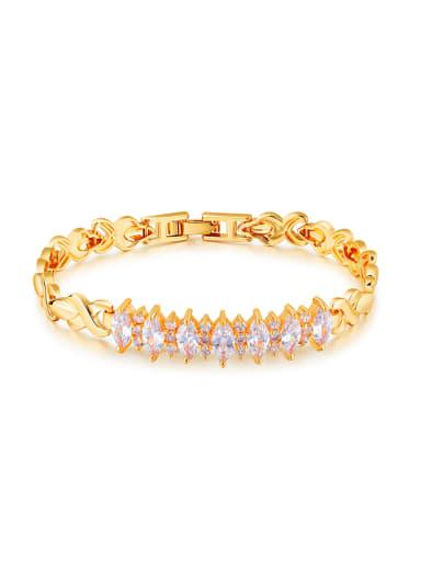 18K Gold Plated Marquise Zircon Bracelet