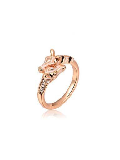 Delicate Giraffe Shaped Austria Crystal Ring