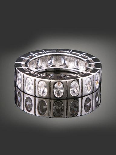 Simple Marquise Zirconias Copper Ring