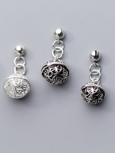 925 Sterling Silver With Silver Plated bell Trendy Charms