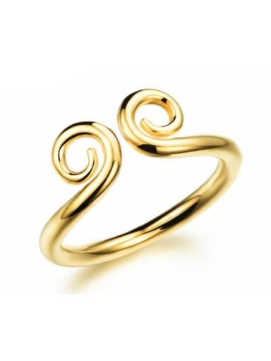 Copper With 18k Gold Plated Personality Irregular Wukong magic spell  Rings