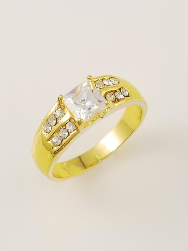 Men Personality 24K Gold Plated Shining Rhinestone Ring