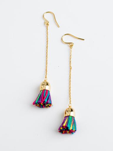 Women Creative Handmade Colorful Tassel Earrings