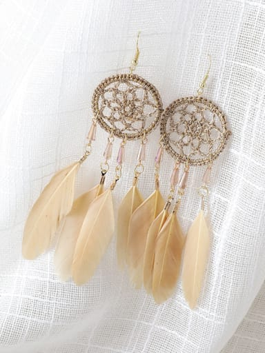 Alloy With Gold Plated Bohemia Round Chandelier Earrings