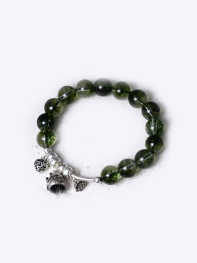 Phantom Green Crystal Fortune Cat Bracelet