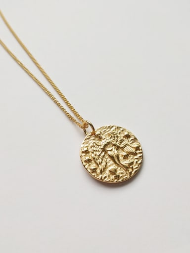 Sterling silver embossed dreamy baroque necklace