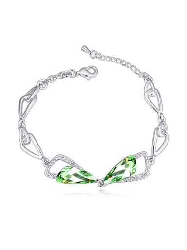 Exquisite Swarovaki Crystals-accented Bowknot Alloy Bracelet
