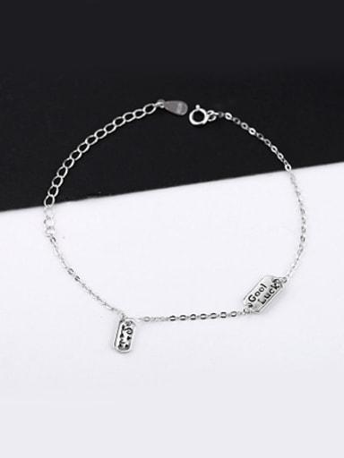 Fashion Letters Silver Women Bracelet