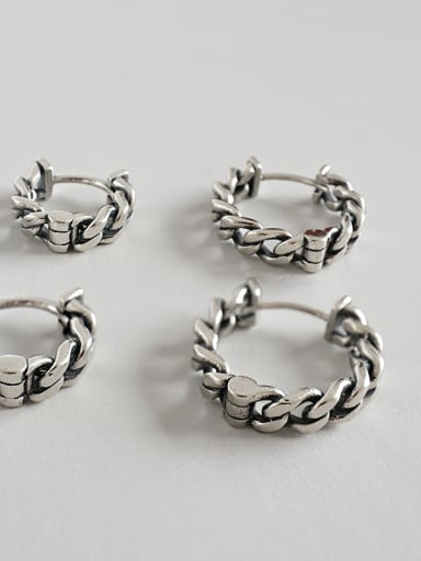 Sterling Silver personality for old retro Chain Earrings