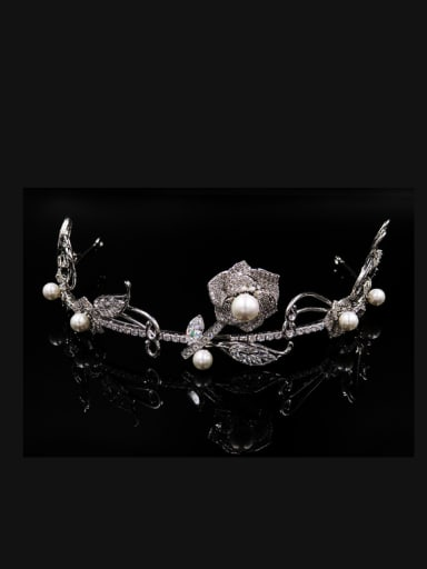 Simple Exquisite Wedding Micro Pave Zircons Hair Accessories