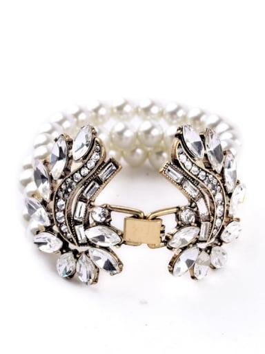Graceful Multi-layer Artificial Pearl Alloy Bracelet