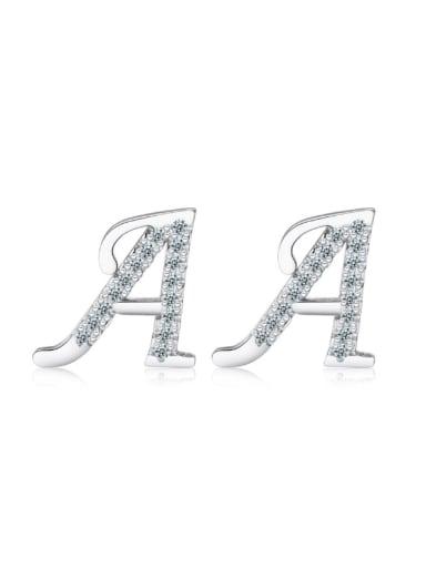 Letter A-shape Fashion Stud Earrings