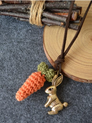 Cute Rabbit Carrot Shaped Necklace