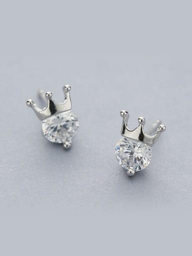 Women Crown Shaped Zircon stud Earring