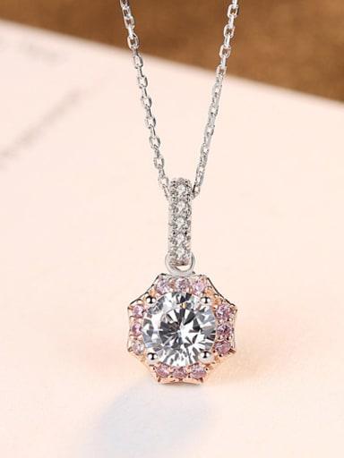Sterling silver sweet AAA zircon Flower necklace