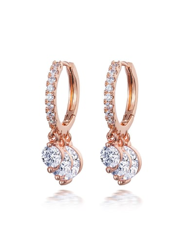 Creative Zircon drop earring