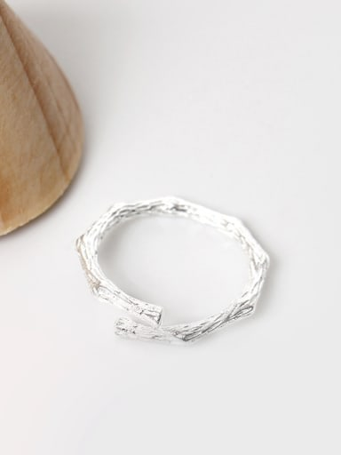 S925 Silver Individuality Opening Midi Ring