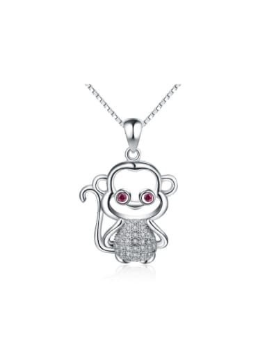 Lovely Monkey Zircons Long Sweater Accessories Pendant