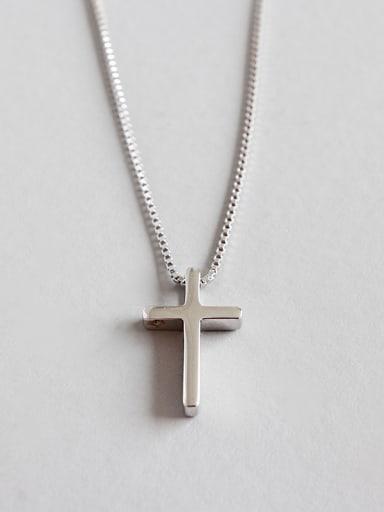 Sterling Silver minimalist Mini Cross Necklace