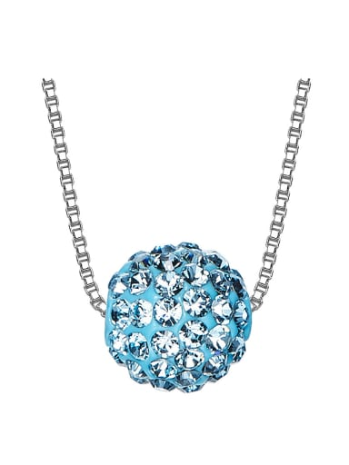 S925 Silver Crystal Necklace