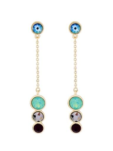 Simple Style Long Western Style Fashion Drop Earrings