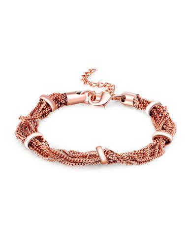Creative Rose Gold Plated Multi-line Bracelet