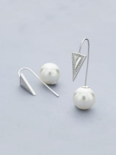 Triangle Shaped Shell Stud Earrings