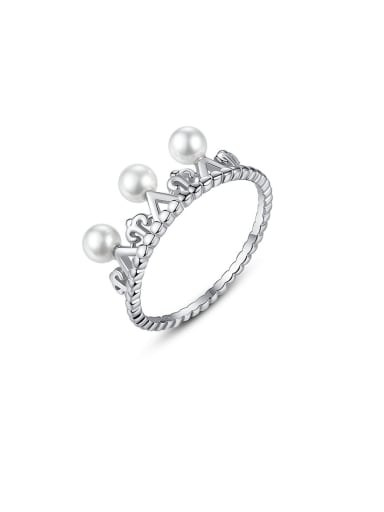 925 Sterling Silver With Antique Silver Plated Simplistic Irregular Band Rings