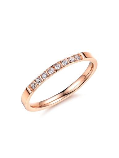 Fashion Cubic Zirconias Titanium Ring