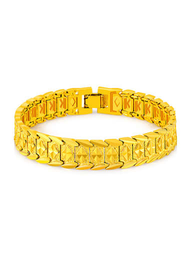 Creative Watch Band Shaped 24K Gold Plated Bracelet