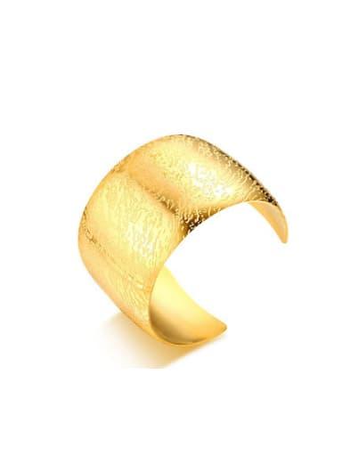 Delicate Gold Plated High Polished Geometric Shaped Titanium Bangle