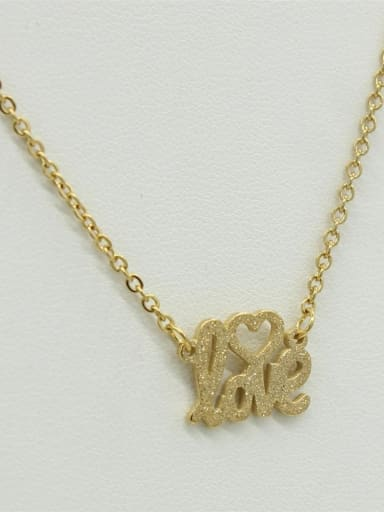 LOVE Letter Sweater Necklace