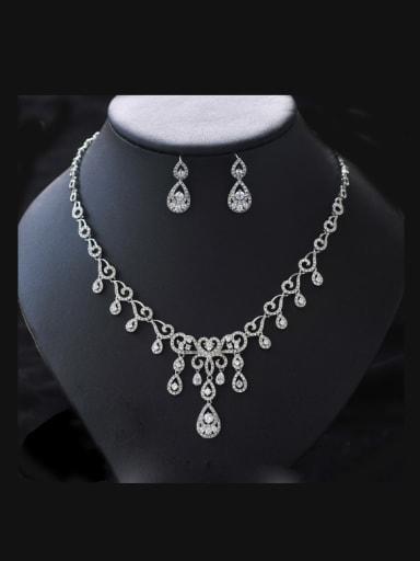 Luxury Two Pieces Jewelry Fashion Wedding Accessories